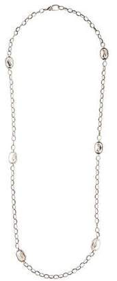 Lagos Silver Rocks Long Station Necklace