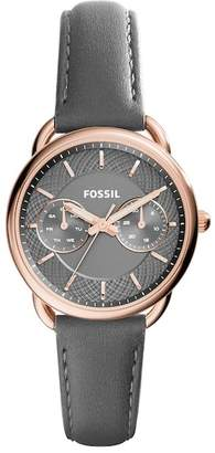 Fossil Women's Tailor Multifunction Leather Strap Watch, 34mm