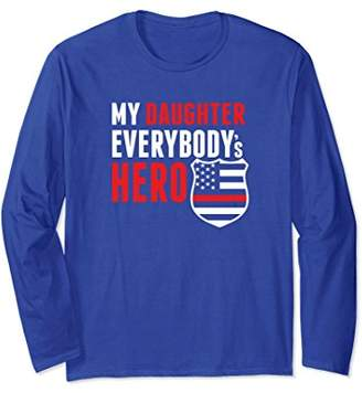 Firefighter Mom or Dad Red Line Daughter Long Sleeve Tshirt