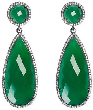 Women's Susan Hanover Semiprecious Stone Double Drop Earrings $195 thestylecure.com