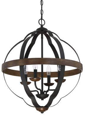 Laurèl Foundry Modern Farmhouse Marcado Black Siren Ingrid 4-Light Foyer Pendant