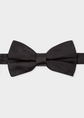 Paul Smith Men's Black Silk-Twill Bow Tie