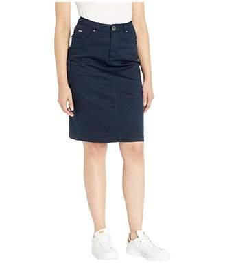 FDJ French Dressing Jeans Soft Hues Denim Skirt in Navy