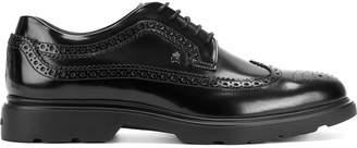 Hogan Men's Hxm3040w3626q6b999 Leather Lace-Up Shoes
