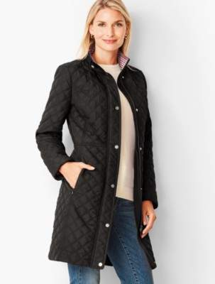 Talbots Quilted Long Coat Stand