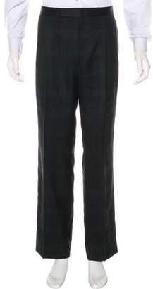 Burberry Plaid Dress Pants