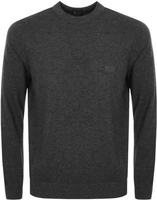 HUGO BOSS Egino Knit Jumper Grey