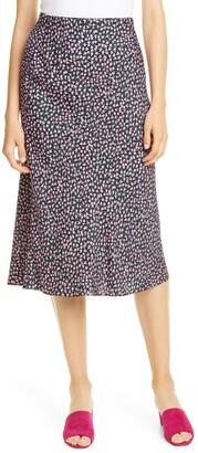 Rebecca Taylor High Waist Wild Rose Print Skirt