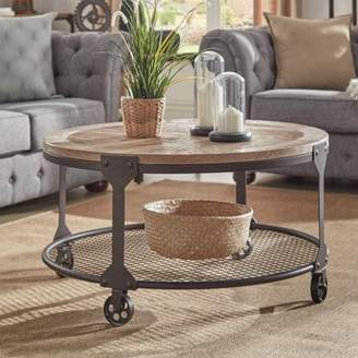 Weston Home Ramona Industrial Wood and Iron Coffee Table