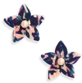 BaubleBar Amariella Acrylic Flower Stud Earrings