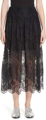 Roseanna Leylight Lace Midi Skirt