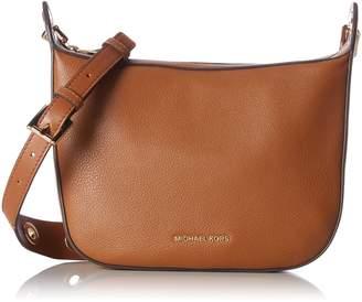 MICHAEL Michael Kors Womens Raven Leather Grommet Messenger Handbag Small