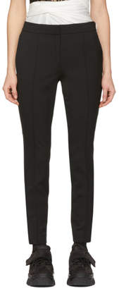 Alexander Wang Black Wool Zipper Detail Trousers