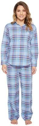 Lauren Ralph Lauren Petite Classic Woven PJ Set Women's Pajama Sets