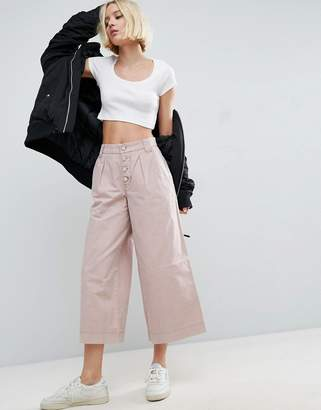Asos Washed Wide Leg Pants