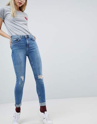 New Look Jenna High Rise Skinny Turn Up Jean
