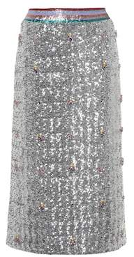 Mary Katrantzou Sigma sequin skirt