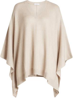 Brunello Cucinelli Poncho Pullover with Cashmere and Silk