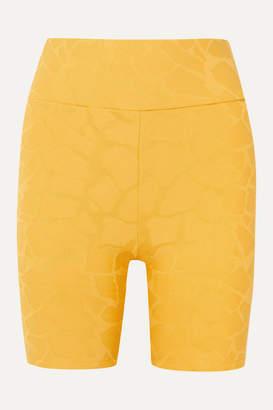 TWENTY Montréal - Roaming Giraffe 3d Stretch Jacquard-knit Shorts - Yellow