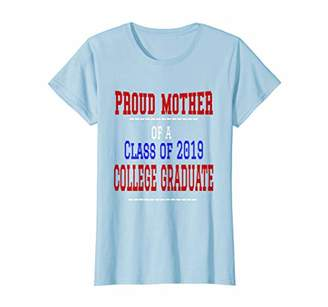 fdbc7b142 Womens Proud Mother Class of 2019 College Graduation Tshirt