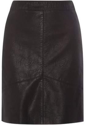 Dorothy Perkins Womens **Tall Black PU Mini Skirt