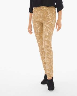 Platinum Pull-on Foiled Jeggings