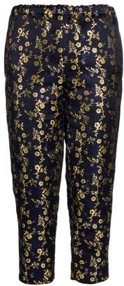 Marni Floral Jacquard Silk Elastic Pants