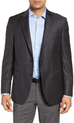 Peter Millar Hyperlight Classic Fit Plaid Wool Sport Coat