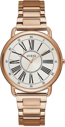GUESS Women Rose Gold-Tone Stainless Steel Bracelet Watch 41mm