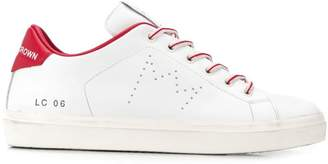 Leather Crown perforated detail sneakers