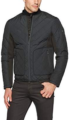 Armani Exchange A|X Men's Quilted Bomber