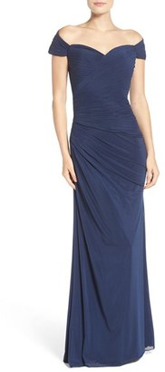 La Femme Ruched Gown $418 thestylecure.com