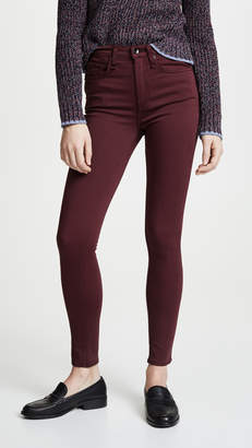 Rag & Bone The Plush High Rise Ankle Skinny Jeans