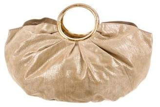 Christian Dior Metallic Suede Handle Bag