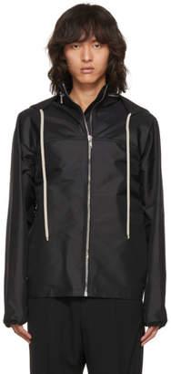 Rick Owens Black Windbreaker Jacket