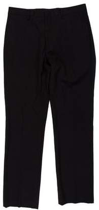 Calvin Klein Collection Flat Front Wool Pants