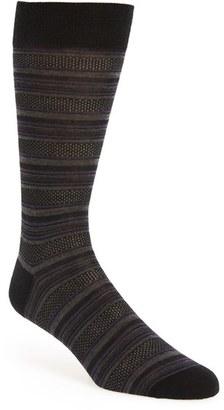 Men's Pantherella 'Vintage Collection - Standard Bird's Eye Stripe' Merino Wool Blend Socks $30 thestylecure.com