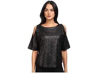 Splendid Sequins Cold Shoulder Top Women's Clothing