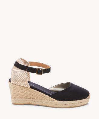 Soludos Women's Closed Toe Midwedges Espadrille Wedges Platinum Size 6 Woven From Sole Society
