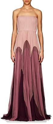 J. Mendel Women's Colorblocked Silk Strapless Gown
