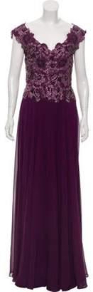 Jovani Embellished Evening Gown Violet Embellished Evening Gown