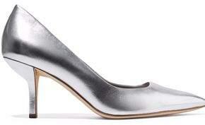 Diane von Furstenberg Meina Metallic Leather Pumps