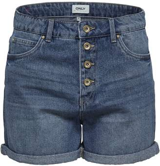 Only Classic Buttoned Denim Shorts
