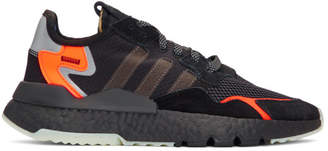 adidas Black and Orange Nite Jogger Sneakers