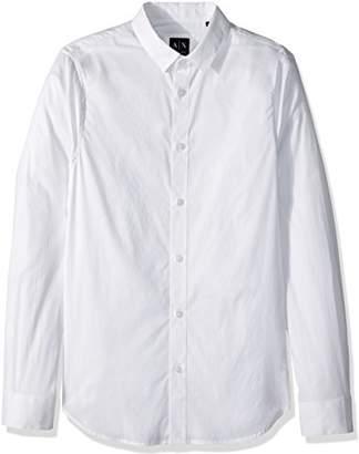 Armani Exchange A|X Men's Slim Cotton Button Down