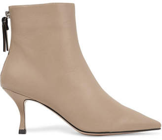 Stuart Weitzman Juniper Leather Ankle Boots - Mushroom