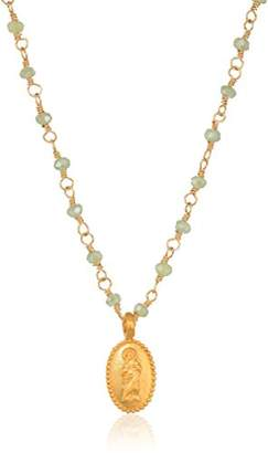 Satya Jewelry Mystic Quartz Gold Mother Mary Wrapped Chain Necklace
