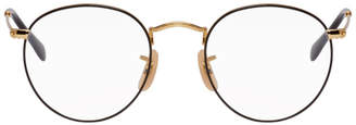 Ray-Ban Gold and Black Round Metal Icons Glasses