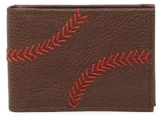 Rawlings Sports Accessories Baseball Stitch Leather Wallet