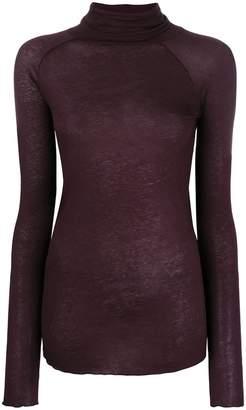 Humanoid roll neck raglan sleeve top